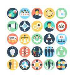 Team Work and Organization Icons 2 vector image