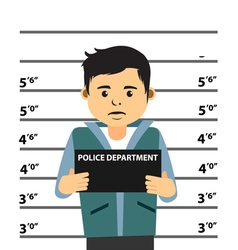 Mugshot Of Young Man vector image