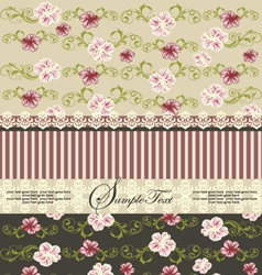 vintage floral invitation card vector image