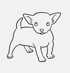 Puppy standing sketch vector