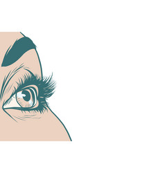 Eyes women isolated background vector