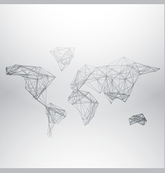 abstract world map made with network lines vector image