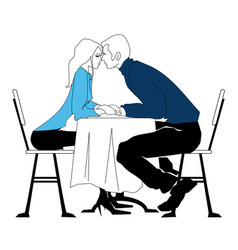 meeting in the cafe the girl and the guy vector image