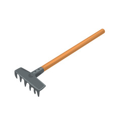 Garden rake agriculture tool cartoon vector