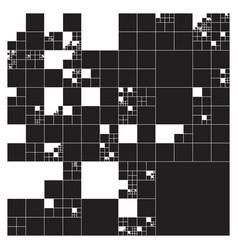 Subdivided squares grid system randomly sized vector