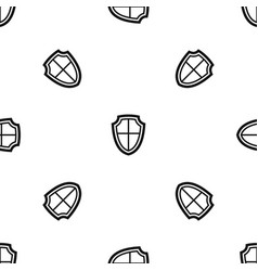 shield pattern seamless black vector image