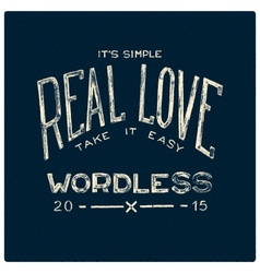 Real love wordless vector image