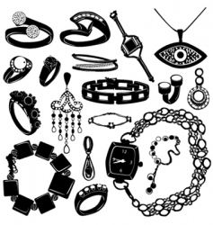 Jewelry for women vector