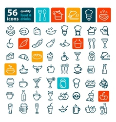 Big food icon set vector