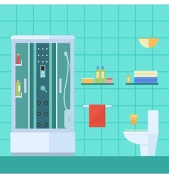 Modern bathroom vector