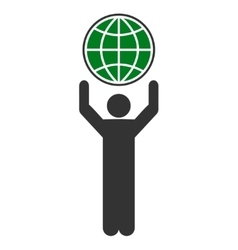 Globalist icon from business bicolor set vector