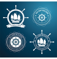 Nautical label2 vector