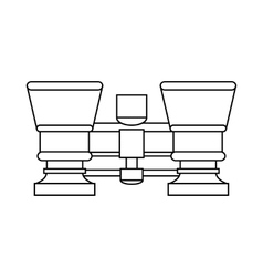 Retro theater binoculars icon outline style vector