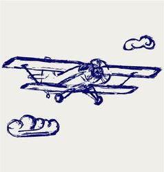 Airplane sketch vector