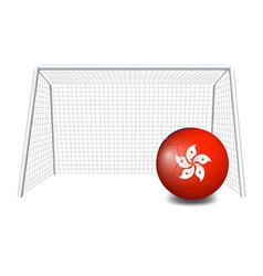 A soccer ball with the Hongkong flag vector image