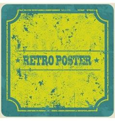 Abstract grunge vintage frame background vector