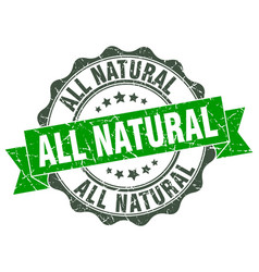 All natural stamp sign seal vector