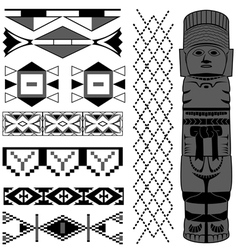 Ancient American pattern vector image