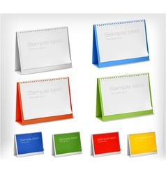 Blank desktop calendars vector image vector image
