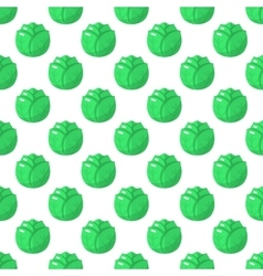 Cabbage pattern seamless vector image vector image