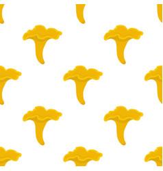 Chanterelle mushroom seamless pattern vector
