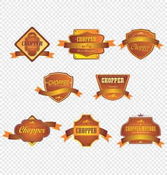 chopper motorcycle label sticker vector image vector image
