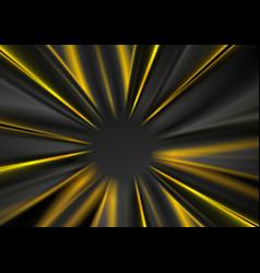 Dark grey and yellow glowing beams abstract vector