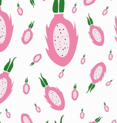 Dragon fruit pattern white background vector image