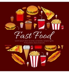 Fast food menu card design element vector image
