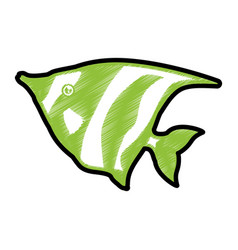 Fish sea animal symbol vector
