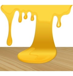 Flowing yellow honey vector image vector image