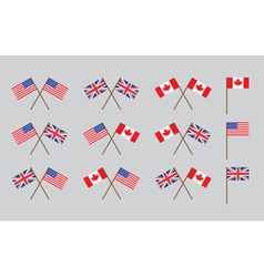 friendship flags vector image vector image