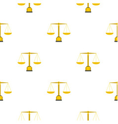 Gold scales of justice pattern seamless vector