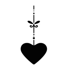 heart hanging icon vector image vector image