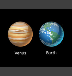high quality venus system planet galaxy astronomy vector image vector image