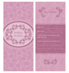 invitation wedding ornamentflowers background vector image vector image