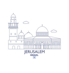 Jerusalem city skyline vector