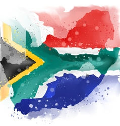 Map of south africa watercolor paint vector