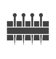 Needles holder vector