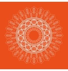 Orange mandale icon bohemic design vector