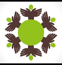 people unity concept design vector image