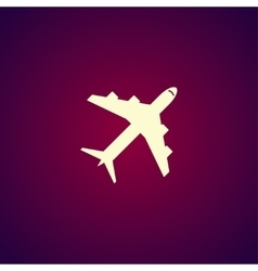 Plane icon Flat design style vector image