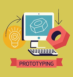 Prototyping poster vector
