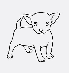 Puppy standing sketch vector