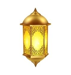 Realistic Ramadan Lamp Icon vector image vector image
