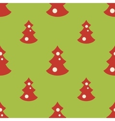 Seamless pattern with christmas trees green vector