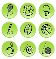sport items icon vector image vector image