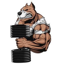 Strong ferocious dog vector