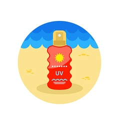 Sun Cream in Spray icon Summer Vacation vector image