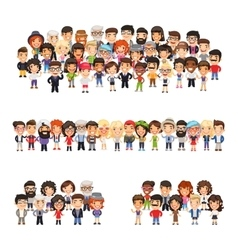Three group of people vector